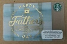 Starbucks Card UK - 2015 HAPPY FATHERS DAY  **Mint Condition**