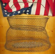 Vintage Antique Maillinox Fishing Collapsible Wire Fish Basket France Nice Decor