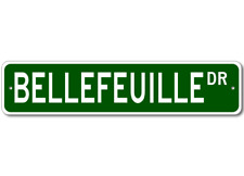 BELLEFEUILLE Street Sign - Personalized Last Name Signs