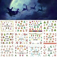 A1153 A1176 NATALE CHRISTMAS adesivi unghie tattoo Stickers nail art decals