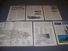 VINTAGE..GRUMMAN F6F-5 HELLCAT...HISTORY/CUTAWAY/COCKPIT...RARE! (415B)