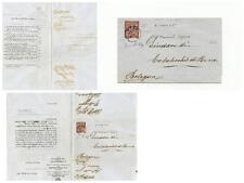 Regno d'Italia 2 cent. Su busta Sassone L 15 tiratura di Londra De La Rue