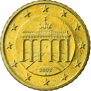 [#722892] République fédérale allemande, 50 Euro Cent, 2002, SUP, Laiton, KM:212