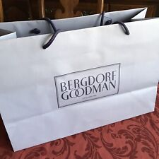 Bergdorf Goodman Authentic Paper Shopping Bag XLg Rope Handles Lilac Color