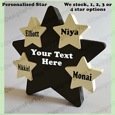 Personalised Wooden Star, Gift, Present, Hand Painted, Childrens Names