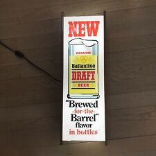 1966 Ballantine Draft Beer Bar Electrical Sign New Wiring Brewed Barrel Flavor