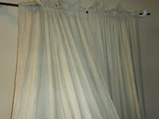 CROSCILL CRUSHED CHENILLE LINEN NEUTRAL (PAIR) CURTAINS PANELS 42 X 86""