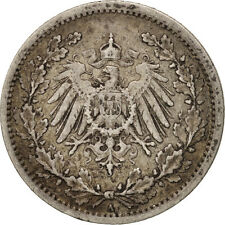 Monnaies, GERMANY - EMPIRE, 1/2 Mark, 1907, Berlin, TTB+, Argent, KM:17 #405618