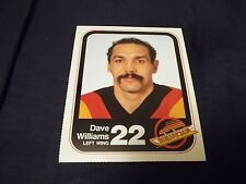 "1983-84 Vancouver Canucks Team Issue #22 Dave ""Tiger"" Williams"