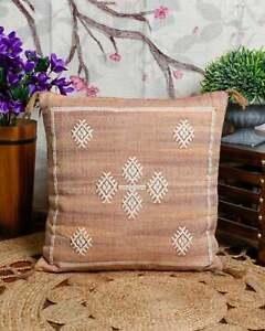 Moroccan Décor Cactus Silk Inspired Cushion Repurposed Sabra Rug Throw Pillow AU