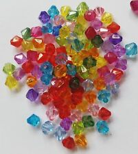 Marquise Bicone acrylic beads 6mm great quality!!! Crystal spacer bead