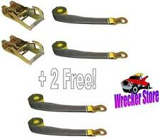 (4) OEM WHEEL LIFT STRAPS (Two free!) & (2) RATCHETS for DYNAMIC CENTURY VULCAN