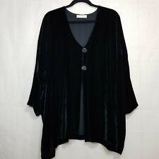 Bryan Emerson velvet jacket black One Size horse stallion buttons plus size FLAW