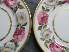 """ROYAL WORCESTER ROYAL GARDEN PAIRS OF 6⅛"""" SIDE PLATES - 1ST QUALITY (Ref3372)"""