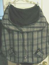 Dog Coat Jacket Blanket Giant & Lg Breeds Petrageous BLACK GRAY Plaid * XXL* New