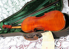 Good Old 19th Century Stradivarius Violin W.H Crouse Repair Label 4/4 Video NR!