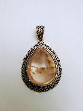 925 Amber Pendant Vintage Sterling Silver