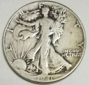 1941-P  WALKING LIBERTY HALF DOLLAR 90%SILVER **NICE COIN** **SEE PHOTOS **
