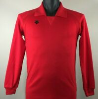 NWT DESCENTE JAPAN Base Layer long Sleeve Shirt Men's Small Red NEW