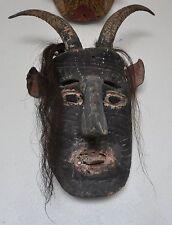Authentic 1960s Mexican Black Devil Goat Dance Mask - ON SALE
