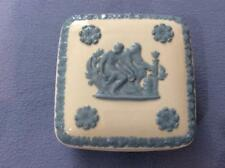 Wedgwood embossed Queensware lacender on cream square box