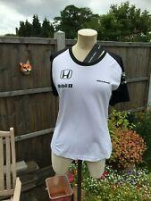 Genuine Mc LAREN  HONDA F1 Formula 1 white ladies T shirt Size S Small BRAND NEW