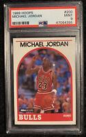 1989-90 Hoops #200 Michael Jordan - PSA Mint (9)
