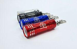 LED Taschenlampe + Schlüsselanhänger mit Ihrer Wunschgravur - Name - Text - Logo