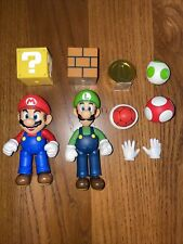 MARIO & LUIGI - Bandai Sh Figuarts - SUPER MARIO Loose Open Box with extras