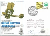 1st Flight Great Britain - Australia Vickers Vimy RAF Flown Cover 1969 Z5036