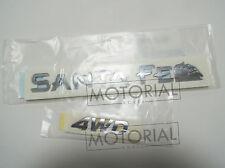 2000-2005 HYUNDAI Santa Fe Genuine OEM SantaFe + 4WD Emblem 2EA Set