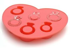 JustForMoo Diamond Ring Ice Cube Mould - PINK