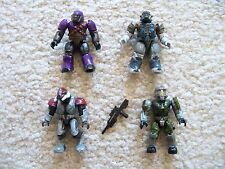 Mega Bloks Halo Soldier Minifigs - Rare Halo Elite Brutes & Spartan with Weapon