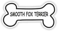 Suave Fox Terrier Hueso pegatina nombre de raza De Perro Plato de comida de Cachorro Mascota Etiqueta del vinilo
