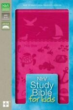 NIrV STUDY BIBLE FOR KIDS. IMITATION LEATHER DUOTONE PINK GIRLS. NEW WITH BOX