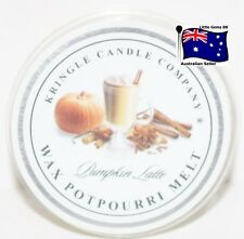 KRINGLE CANDLE ** Pumpkin Latte ** SCENTED BREAKABLE TART MELT SON OF YANKEE