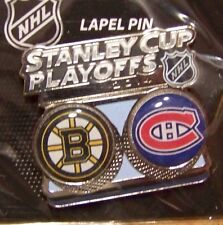 2014 Stanley Cup Playoffs lapel pin NHL SC Boston Bruins vs Montreal Canadiens
