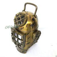 Antique Brass Sea Marine Scuba Diving Divers Helmet US Navy Mark V Solid
