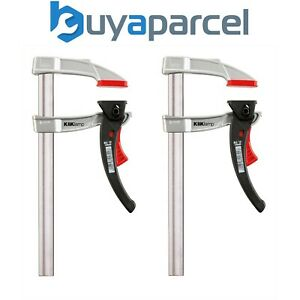 x2 Bessey KliKlamp Quick Release Ratchet F Clamps Light and Strong KLI 120/80