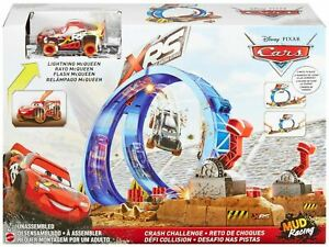 Disney Pixar Cars XRS CRASH CHALLENGE Toy Car & Track Playset
