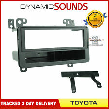Car Single Din Stereo Fascia Panel Adaptor Black For Toyota RAV4 2000-2006