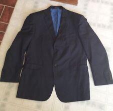 Eleganza by Giorgio Sanetti Super 140s Men's Suit Coat 40R Navy Blue 2 Button