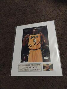 Kobe Bryant NBA Lakers Original Signed Autographed 5x7 matted 8x10Photo w/COA