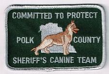 Polk County Sheriff's Canine Team, Florida patch