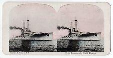 Uss North Dakota Stereoview Sv 1910s Military Dreadnaught Usn Navy Naval Muller