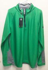 Under Armour UA Golf Outerwear Pullover Half Zip Green Grey Loose Longsleeve L