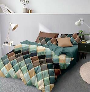Claroom Geometric Duvet Cover Comforter Bedding Queen King Bed Linens