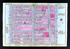 1921 New York City Map - Broadway Theatre District 47th-53rd Street 7th-11th Ave