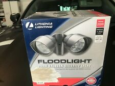 New Lithonia Lighting Outdoor Bronze Floodlight 200W Halogen Security 120V