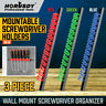 3-Piece Wrench Screwdriver Organizer Tool Rail Rack Holder ABS Wall Mount 14Pair